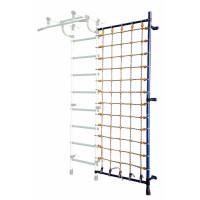 Дополнительная стойка к пристенному ДСК с сеткой для лазания синяя